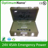 24V 45ah LiFePO4 Battery Pack for Army Back-up System