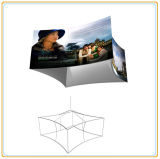 Square Suspended Sign Display Rack with Fabric Graphic