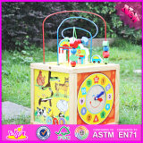 2016 New Design Fashion Kids Wooden 3D Maze Ball Game Puzzle Toy W11b127