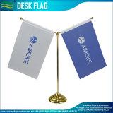 Table Flag, Double Desk Flag, Golden Stand (J-NF09M05004)