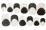 Fashionable Black White Water Transfer Nail Art Stickers Nail Sticker