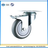 Multipule Functions Double Braked Top Plate Thermoplastic Rubber Swivel Castor