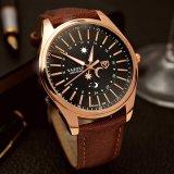 368 Fashion Wrist Watch Stainless Steel Back Watch Men′s Quartz Watch