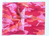 Factory Produce Custom Logo Printed Pink Polyester Neck Tubular Scarf