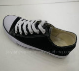 Classic Style Vulcanized Rubber Outsole Lace up Canvas Fashion Shoes
