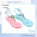 Macarons Candy Color Jelly Shoes Ladies PVC Flat Slipper Sandals