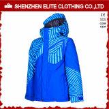 Waterproof Blue Windbreaker Ski Jacket Thermal Winter Coat (ELTSNBJI-56)