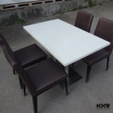 White Artificial Marble Dining Table Kfc Tables and Chairs