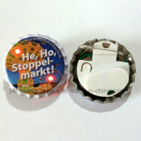 LED Light up Beer Bottle Cap Button Badge (3569)