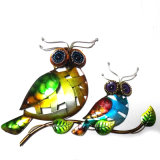Family Owl Metal Wall Decoration for Mother′s Day