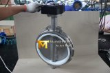 PTFE Seat 1 Peice Body Design Gear Lever Ss Wafer Butterfly Valve
