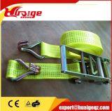 "4"" Flat Hooks Ratchet Strap 4"" X 50′ Green"