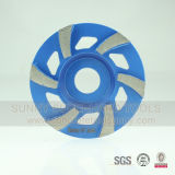 Grit 16 Diamond Flat Cup Wheel for Grinding Concrete