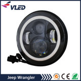 7 Inch LED Headlight with DRL Turn Light Halo RGB Angle Eye for Jeep Wrangler