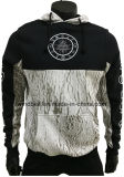 Fashionable Thick Brushed Cotton Hoody for Men with Print Design