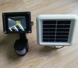 Solar-Powered LED COB Motion-Activated Outdoor Security Floodlight 3W