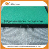 Anti-Slip Safety Playground Rubber Paving Tiles with Plastic Pins