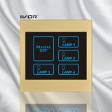 4 Gangs Lighting Touch Switch with Master Control Acrylic Frame (SK-LT100L4-M)