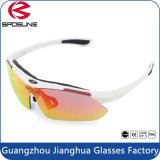Full Red Tr90 Frame Bike Riding Sunglasses Coming Anti Sweat Design
