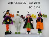 Standing Halloween Figure Decoration with Sign-4asst.