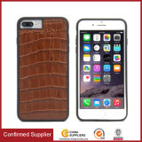 Luxury Genuine Leather Cell Phone Covers with Built-in Magnetic Pad