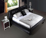 European Style Modern Leather Home Bedroom Furniture Bed