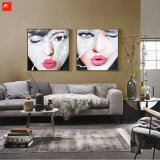 Beautiful Women Face Handmade Oil Painting