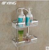 Space Aluminium Series Square Double Shelf Bathroom Shower Shelf