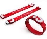Silica Gel Wristband USB Flash Drive with Customized Logo (TF-0093)