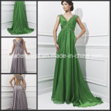 Cap Sleeves Evening Dresses Sequins Fall Winter Chiffon Pageant Prom Formal Dresses Gowns T21429