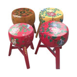 Chinese Antique Painted Wooden Garden Stool Lws052