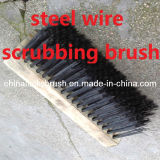 Wooden Base Steel Wire Scrubbing Brush (YY-332)
