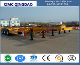 Cimc 2/3 Axles 20FT Skeletal Frame Container Trailer Chassis