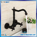 Wall Mounted Doubel Lever Orb Faucet