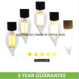 New Products UL Listed Dimmable Candle Filament LED Bulb