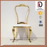 Original Modern Style White Leather Gold Dining Chair