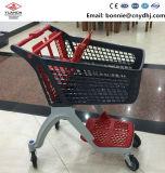 200L Supermarket 4 Wheels Plastic Shopping Trolley
