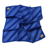 Hotsale Custome Made Navy Striped Silk Screen Printed Scarf (LS-31)