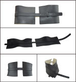 Wide Fashion Black Genuine Leather Belt