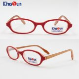 Kid′s Acetate 3 Tone Colors Frame with Spring Temple Optical