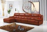 New Design Black Modern Leather Sofa Furniture L. P2801