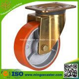 Swivel PU on Cast Iron Core Wheel Castor