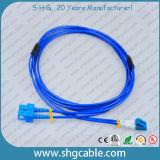 Sc-LC Sm Duplex Armored Fiber Optic Patch Cord