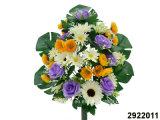 Artificial/Plastic/Silk Flower Rose/Daisy/Gerbera/Poppy Mixed Lying Bush (2922011)