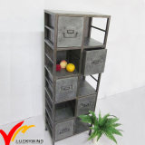 Rustic Old Galvanized Metal Locker Shelf for School and Office