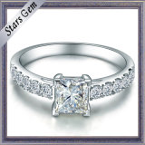Square Princess Cubic Zirconia Sterling Silver Fashion Jewelry