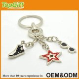 Cool Keychain with Shoe Star and Sunglass Shaped Charms