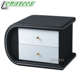 T42 Fashionable 2 Drawers Round Bedside Table