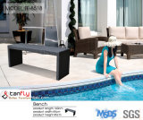 Popular Swimming Pool Use Long Outdoor Rattan Wicker Benches