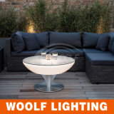 Glowing LED Plastic Wedding Events Coffee Table